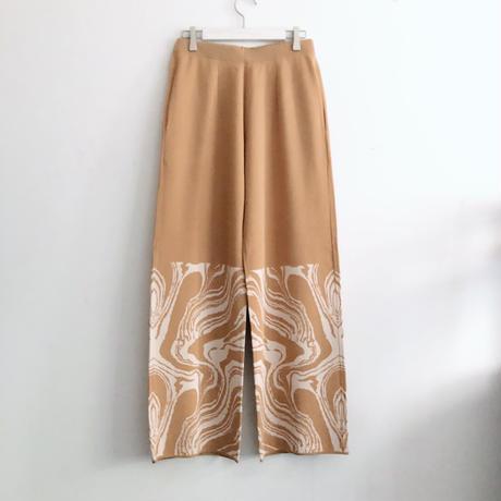 MABLE PATTERN PANTS<BEIGE>