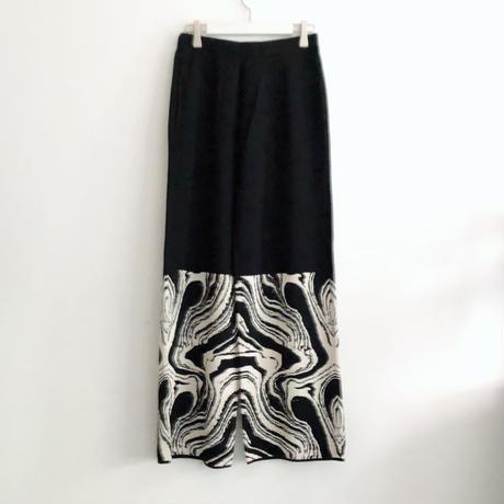 MABLE PATTERN PANTS<BLACK>