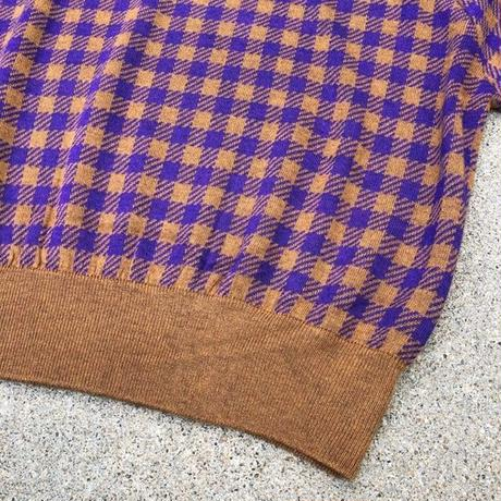 GINGHAM CHECK  PO〈BROWN〉