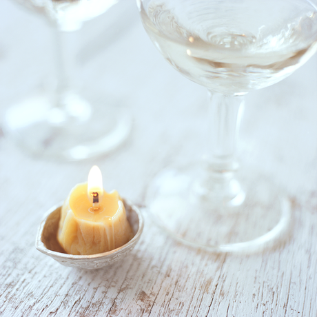 Walnut Candle with Base | Standard Set