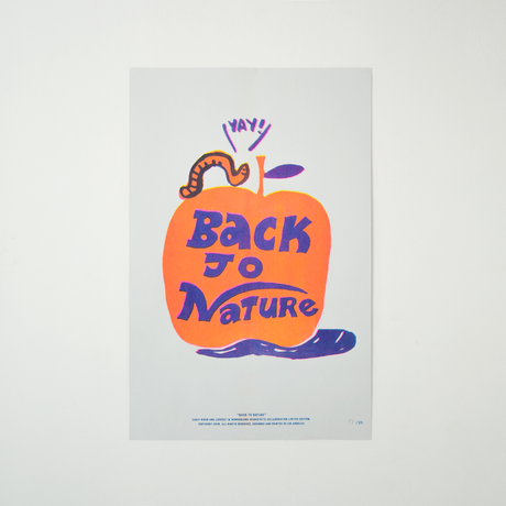 "Early Birds × Lookout&Wonderland | ポスター "" Back to Nature"""
