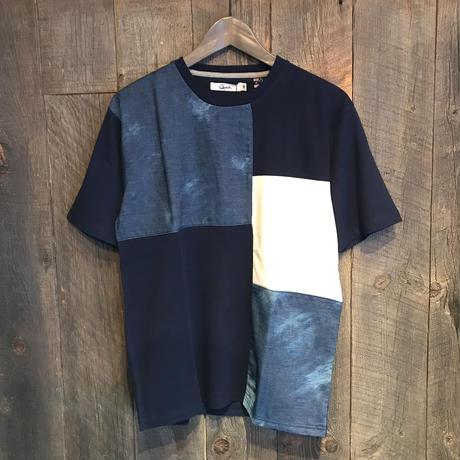 デニム ブロック切替Tシャツ Q19−139−21T