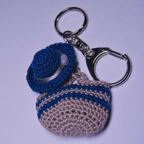 帽子とバッグおでかけキーホルダー(Blue)