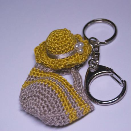 帽子とバッグおでかけキーホルダー(Yellow)