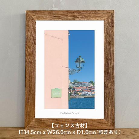 アートポスター インテリア A4 + 額縁 フレーム 木製 「 Diogo 」It's all about Portugal No.12
