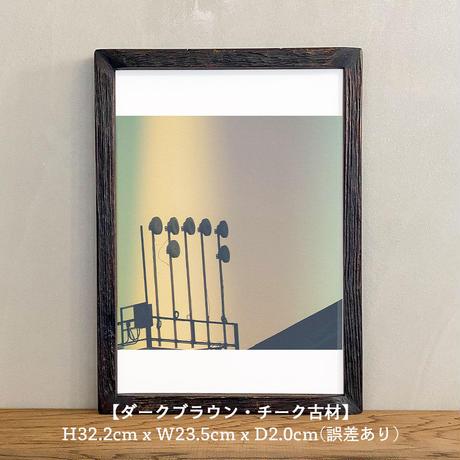 ポスター アート A4 + ポスターフレーム 木製 「Say hello to the angels - ニューヨーク T260」