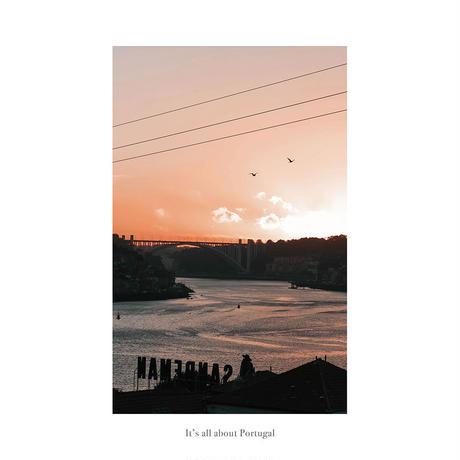 It's all about Portugal「グラフィック」No.15 ポスター アート A4 + 古材 フレーム A3 セット 玄関 寝室 オフィス インテリア