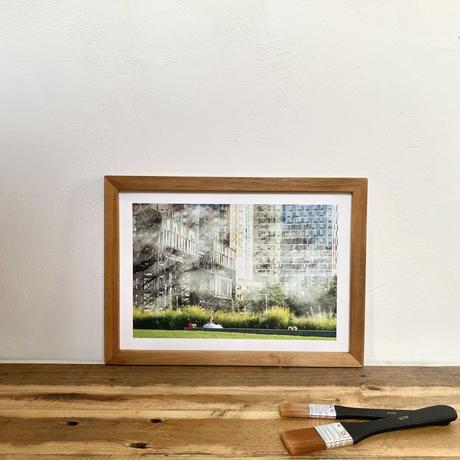 Waiting for「NYシリーズ」 A4 ポスター & 木製 ポスターフレーム 壁掛け