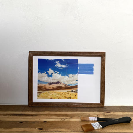 The Expedition「水彩」  A4 ポスター アート  & 古材 アートフレーム