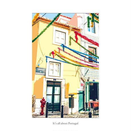 ポスター インテリア A4 + 額縁 フレーム 木製 「 Lisboa 」It's all about Portugal No.5