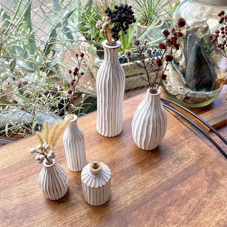 花瓶 No.20 BIG ホワイト 一輪挿し 木製 ドライフラワー フラワーベース 玄関 ニッチ