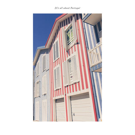 アートポスター インテリア A4 + ポスターフレーム アンティーク「 white stripes 」It's all about Portugal No.27
