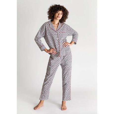 SLEEPY JONES Henry Pajama Set 「Red, White & Blue Block Print」 レディース パジャマ スリーピージョーンズ