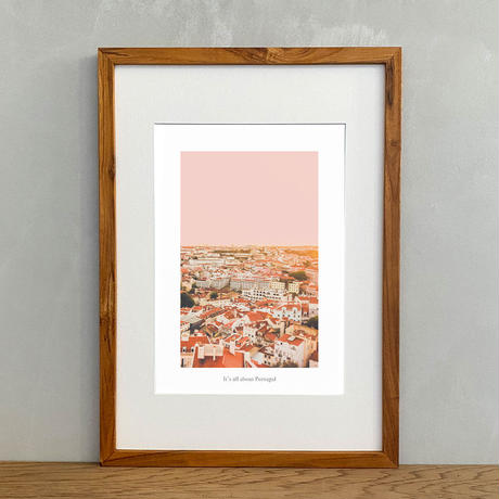 It's all about Portugal「グラフィック」No.9 ポスター アート A4 + 古材 フレーム A3 セット 玄関 寝室 オフィス インテリア