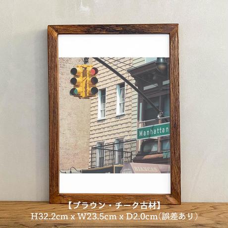ポスター アート A4 + ポスターフレーム 木製 「Capture the City - ニューヨーク T267」