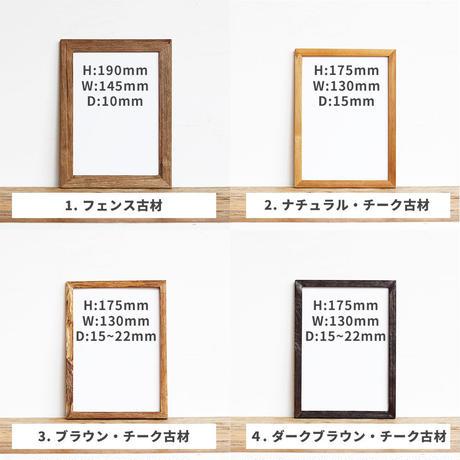 """""""万物想"""" 観葉植物 ポストカード + 古材 フレーム セット商品"""