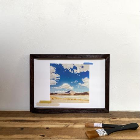 Untitled「水彩」  A4 ポスター アート & アンティーク 木製 フレーム