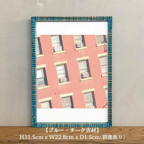 ポスター アート A4 + ポスターフレーム 木製 「Apartment Life - ニューヨーク マンハッタン T265」