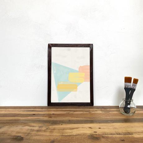Andorra「水彩 グラフィック」 A4 プリント ポスター アート + 木製 アンティーク 額縁 No.86