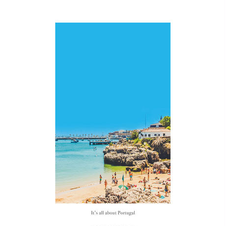 アートポスター インテリア A4 + 額縁 フレーム 木製 「 Costa da 」It's all about Portugal No.10