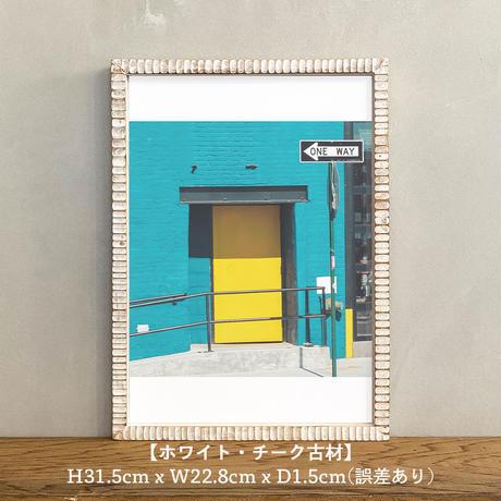 ポスター アート A4 + ポスターフレーム 木製 「12:16 - ニューヨーク ブルックリン T266」