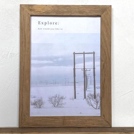 Explore「Transition 北欧」  A4 ポスター アート  & 古材 アートフレーム
