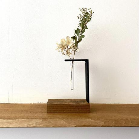 【セット商品】 アイアン + 古材 一輪挿し & SSサイズ(約6.5cm x 6.0cm) 一輪挿し (壁掛け・自立式) ドライフラワー 生花 試験管