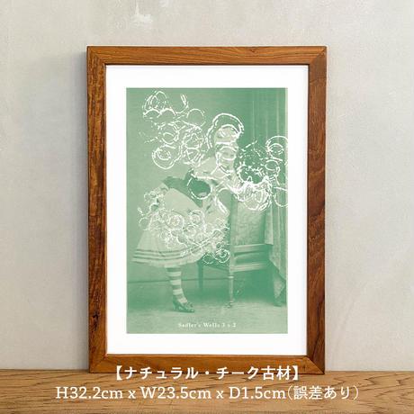 アートポスター インテリア A4 + ポスターフレーム アンティーク「Sadler's Wells 3 x 3」Classic Portrait グラフィック