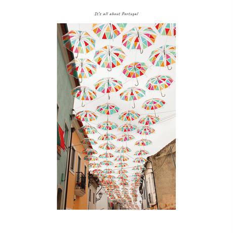 アートポスター インテリア A4 + ポスターフレーム アンティーク「 Rain Dance 」It's all about Portugal No.17