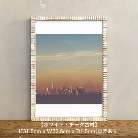 ポスター アート A4 + ポスターフレーム 木製 「NYC - ニューヨーク マンハッタン T259」