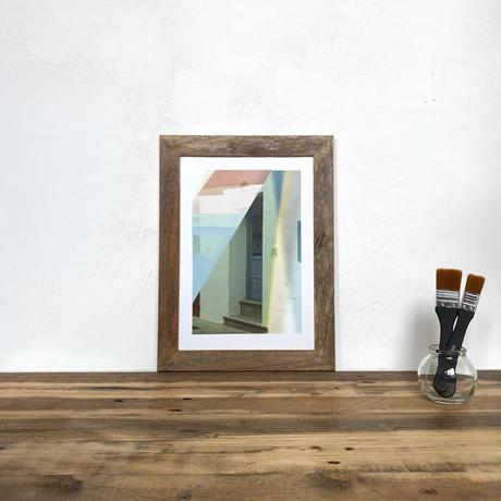 Frigiliana「水彩x写真」  A4 ポスター アート  & 古材 アートフレーム