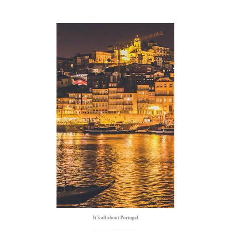 アートポスター インテリア A4 + ポスターフレーム アンティーク「 Melt away to some warm ambience 」It's all about Portugal No.16