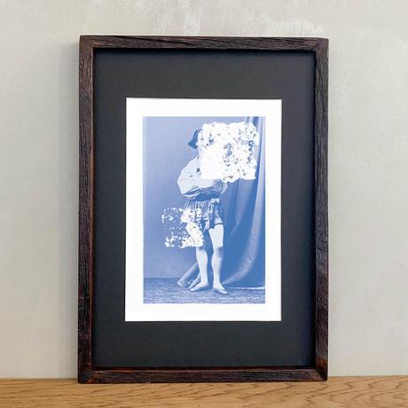 「Native Dancer 5x4」Classic Portrait グラフィック ポスターアート A4サイズ + A3サイズ 古材 額縁