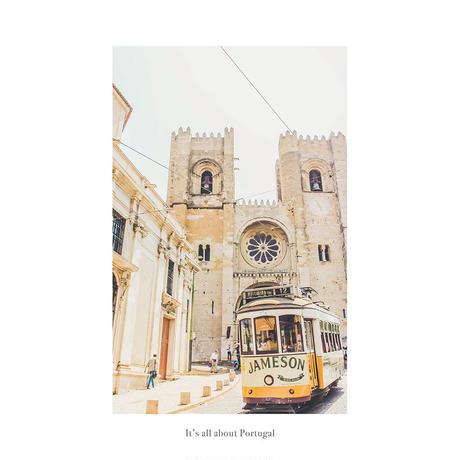 アートポスター インテリア A4 + 額縁 フレーム 木製 「 Sé de Lisboa 」It's all about Portugal No.8