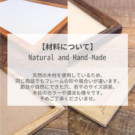 チーク古材 フォトフレーム (ポストカードサイズ) 【レターパックで送料無料】