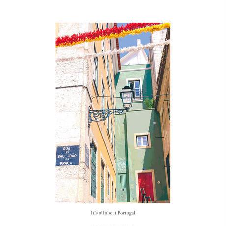 ポスター インテリア A4 + 額縁 フレーム 木製 「 Lisboa 2 」It's all about Portugal No.6