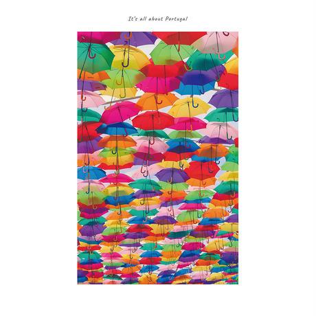 アートポスター インテリア A4 + ポスターフレーム アンティーク「 Umbrella 」It's all about Portugal No.20
