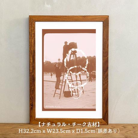 アートポスター インテリア A4 + ポスターフレーム アンティーク「Nijinsky 4 x 3」Classic Portrait グラフィック