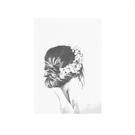 「Flowergirl」A4 インテリアポスター & 木製 アンティーク 額縁 セット