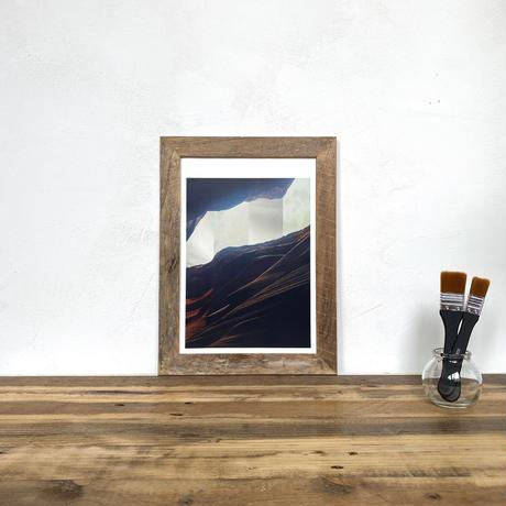 Summoning「コラージュ」 A4 プリント ポスター アート & アンティーク ウッド フレーム