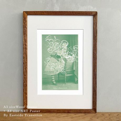 「Sadler's Wells 3 x 2」Classic Portrait グラフィック  ポスターアート A4サイズ + A3サイズ 古材 額縁