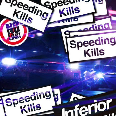speeding Kills STICKER  - ステッカー / JDM USDM  DRIFT