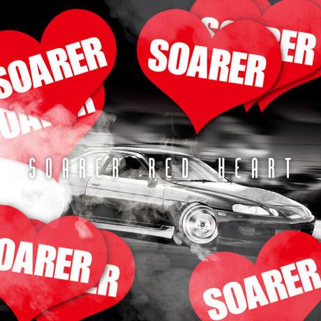 SOARER HEART RED STICKER - ソアラ ハート レッド ステッカー / TOYOTA 豊田 トヨタ ソアラ 1JZ 2JZ JDM ドリフト D1