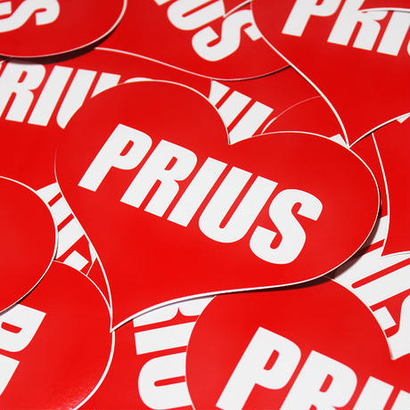 PRIUS HEART RED STICKER - プリウス ハート レッド ステッカ ー /  TOYOTA トヨタ