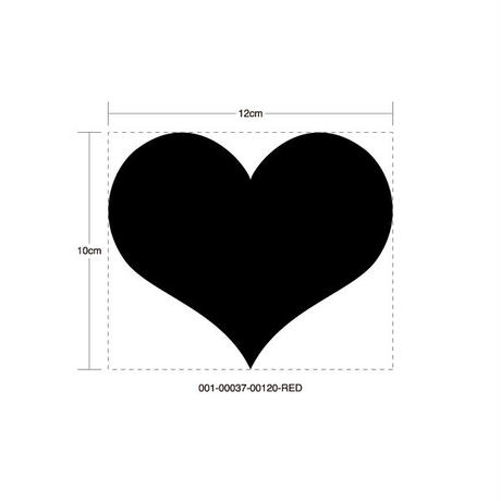 INTEGRA HEART RED STICKER - インテグラ ハート レッド ステッカー / HONDA 峠 JDM  カスタム