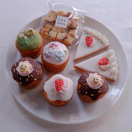 カップケーキ&ショートケーキクッキーセット