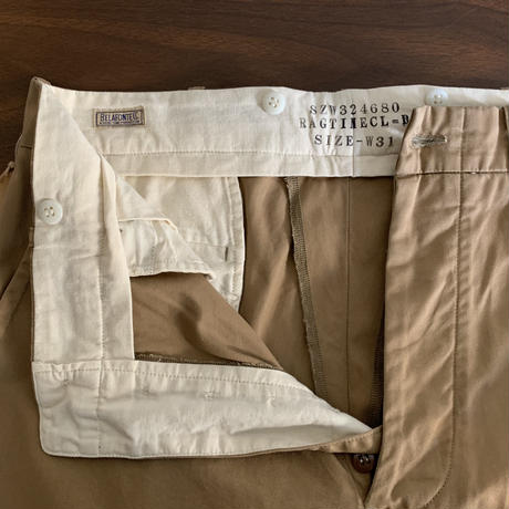RAGTIME  CHINO CLOTH TROUSERS(WASHED)
