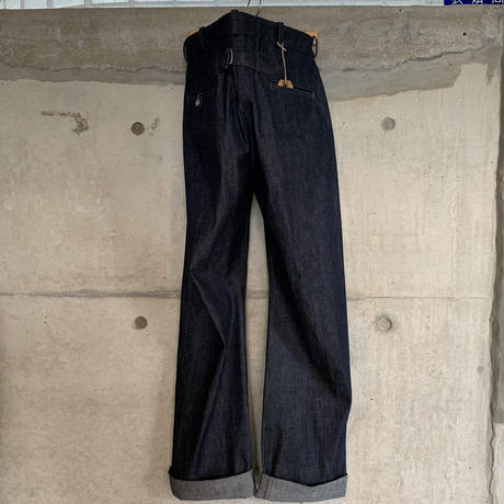 RAGTIME DENIM TROUSERS RED LINE