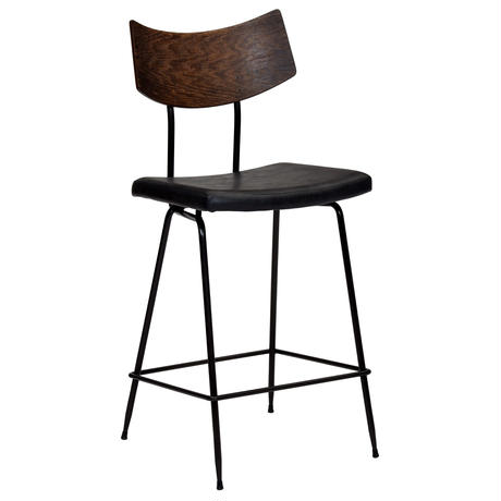 SQUARE ROOTS  SOLI COUNTER STOOL BLACK LEATHER