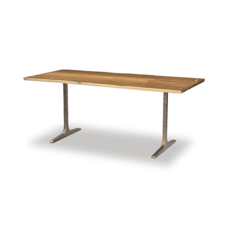 SQUARE ROOTS T LEG DINING TABLE / SMOKED OAK BRONZE